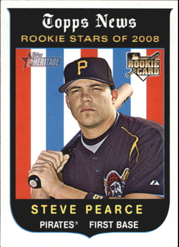 Photo of 2008 Topps Heritage #138 Steve Pearce RC