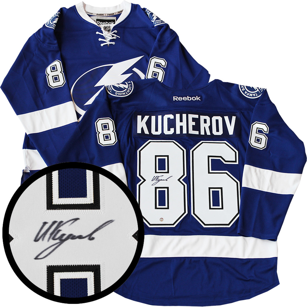 info for b8e4d 933a6 Nikita Kucherov Signed Jersey Lightning Replica Blue 2016 ...