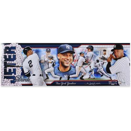 Photo of Derek Jeter Autographed New York Yankees Panoramic Photo