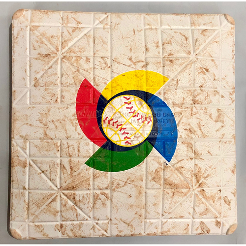 Photo of 2017 World Baseball Classic Game Used Base- 2nd Base (Innings 1-3) (Korea at Kingdom of the Netherlands)