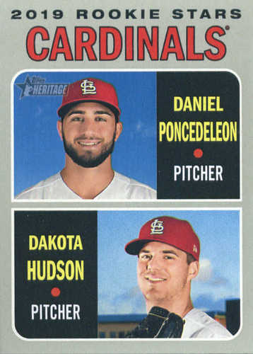 Photo of 2019 Topps Heritage #96 Dakota Hudson RC/Daniel Poncedeleon RC