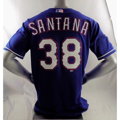 Photo of Game-Used Blue Jersey - Danny Santana - 5/19/19