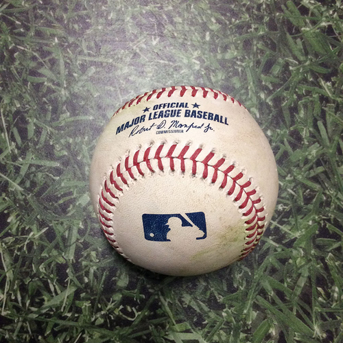 Photo of Game-Used Baseball STL@MIL 03/31/19 - Michael Wacha - Jesus Aguilar: Single