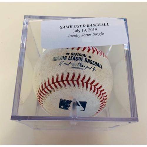 Game-Used Baseball: JaCoby Jones Single