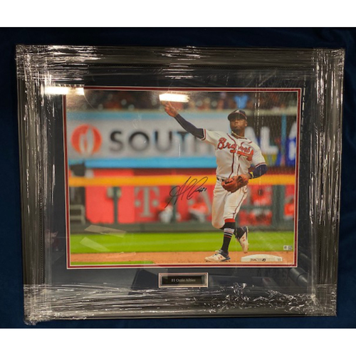 Photo of Ozzie Albies MLB Authenticated Autographed & Framed Large Photo