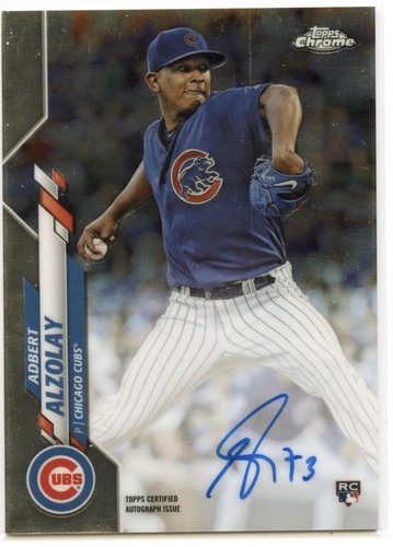 Photo of 2020 Topps Chrome Rookie Autographs #RAAA Adbert Alzolay