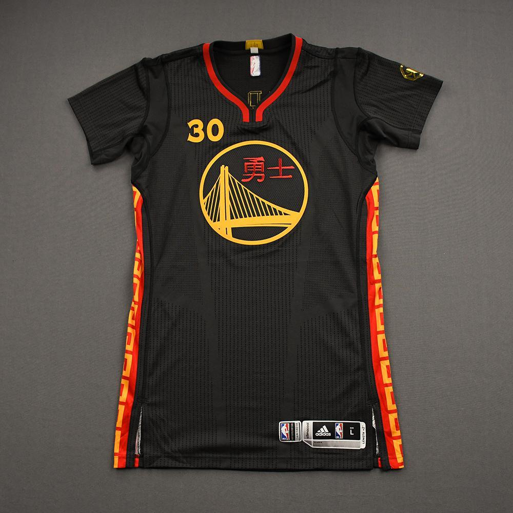 Stephen Curry - Golden State Warriors Charity Auction - Stop AAPI Hate - Game-Issued Chinese New Year Jersey - 2015-16 NBA Season