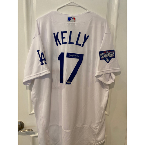 Photo of Joe Kelly Authentic Autographed Los Angeles Dodgers Jersey