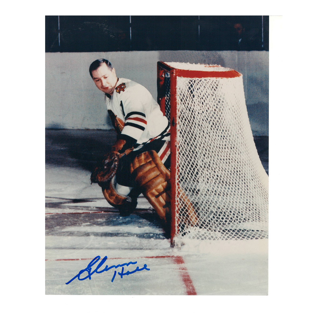GLENN HALL Signed Chicago Blackhawks 8 X 10 Photo - 70079