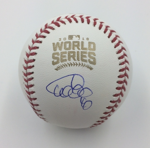 Photo of Willson Contreras Autographed 2016 World Series Logo Baseball