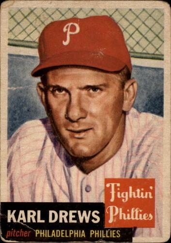 Photo of 1953 Topps #59 Karl Drews DP