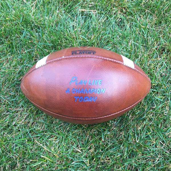 Photo of Notre Dame Game-Used Football vs. Wake Forest - 11/4/2017