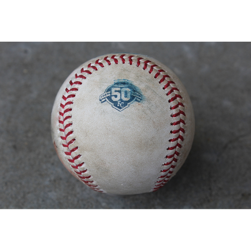 Photo of Game-Used Baseball: Wilson Ramos 663rd Career Hit (TB at KC - 5/16/18)