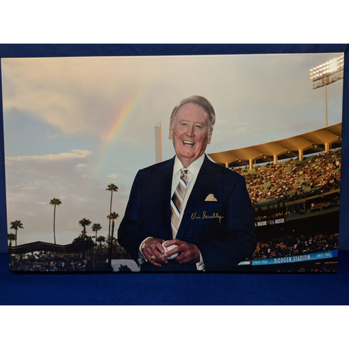 Photo of Kershaw's Challenge: Vin Scully Signed Photo Canvas
