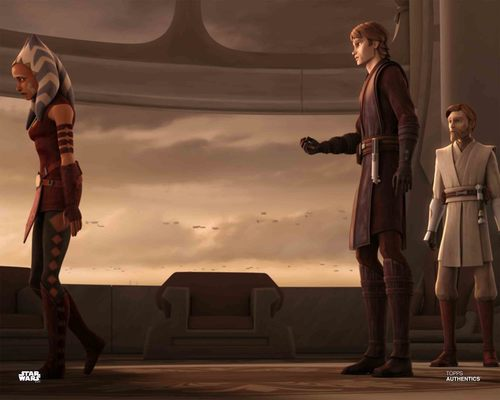 Anakin Skywalker, Ahsoka Tano and Obi-Wan Kenobi