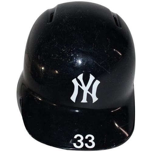 Photo of Greg Bird New York Yankees 2017 Game Used #33 Home Batting Helmet (10/1/2017, 10/3/2017, 10/8/2017, 10/17/2017)