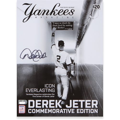 Photo of Derek Jeter Autographed Commemorative Edition Magazine
