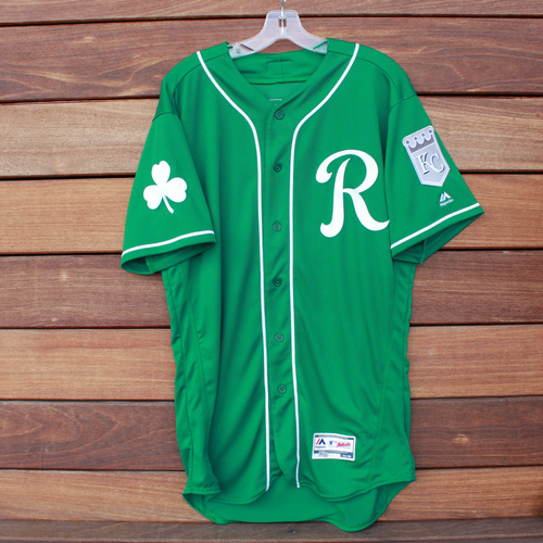 28156fd5f Photo of Game-Used Saint Patrick s Day Jersey  Adalberto Mondesi (Size - 44