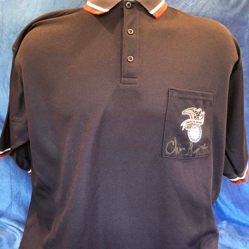 Photo of UMPS CARE AUCTION: Throwback American League Signed Chris Guccione Umpire Shirt, Size XL