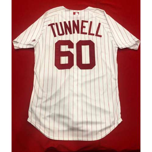 Photo of Lee Tunnell -- 1967 Throwback Jersey & Pants -- Game-Used for Rockies vs. Reds on July 28, 2019 -- Jersey Size: 46 / Pants Size: 35-40-16