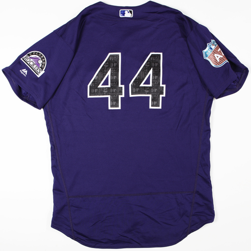 Photo of 2016 Spring Training - Spring Training Game Used Jersey - Tyler Anderson (Rockies)- Size- 48