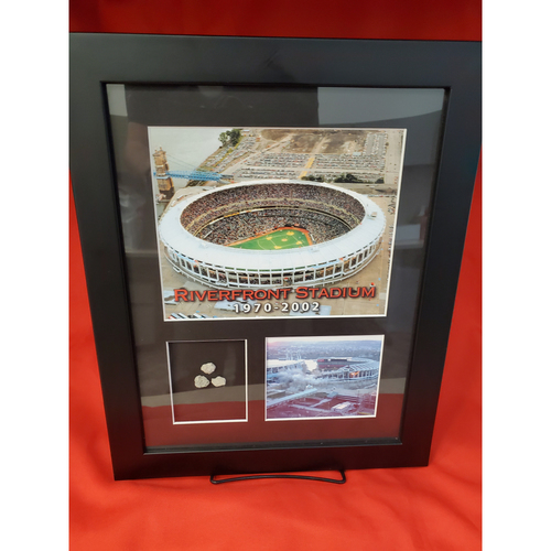 Photo of Framed Pieces of Riverfront Stadium Concrete