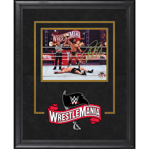 Photo of Drew McIntyre SIGNED WrestleMania 36 Champion's Edition Frame (#1)