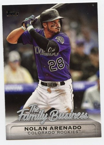 Photo of 2019 Topps Update The Family Business #FB20 Nolan Arenado
