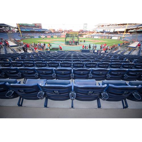 Photo of Set of Authentic Citizens Bank Park Dugout Diamond Club Seats