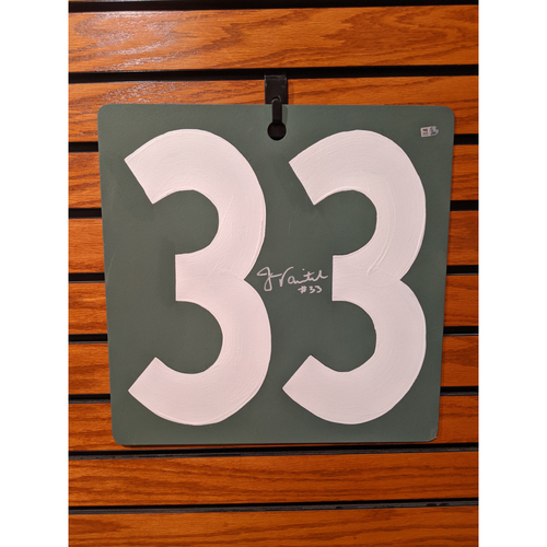 Photo of Jason Varitek Autographed Fenway Park Scoreboard #33