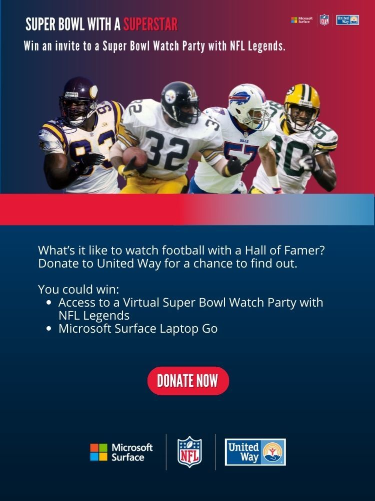 UNITED WAY SWEEPSTAKES: SUPER BOWL WITH A SUPERSTAR!