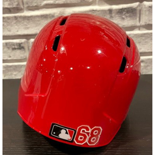 Photo of Juan Graterol -- Team-Issued Helmet -- Left Ear Flap -- Size 7 3/8
