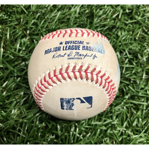 Photo of Game Used Baseball: Alex Verdugo foul ball off Aaron Loup - September 11, 2020 v BOS