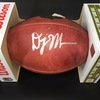 NFL - PANTHERS WR DJ MOORE SIGNED AUTHENTIC 'DUKE' FOOTBALL. BALL HAS PAINT PEN SPLASH/SMUDGING