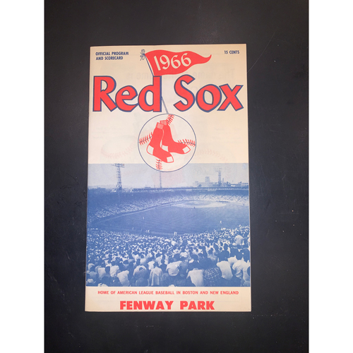 Photo of Baltimore Orioles at Boston Red Sox August 16, 1966 Official Program and Scorecard - Frank Robinson Home Run