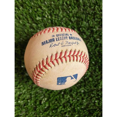 Photo of Jake Cronenworth Hit RBI Single Baseball off Bryse Wilson - Also Fernando Tatis Jr. Strikeout - July 21, 2021 Game 2 Suspended Game