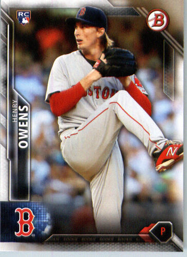 Photo of 2016 Bowman #129 Henry Owens RC