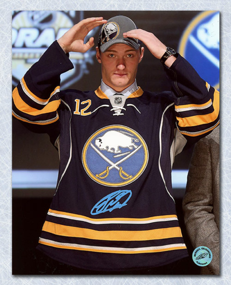 Mikhail Grigorenko Buffalo Sabres Autographed 2012 Draft Day 8x10 Photo
