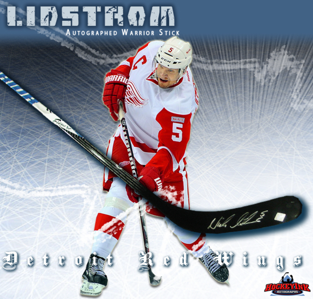 NICK LIDSTROM Signed Warrior Stick - Detroit Red Wings