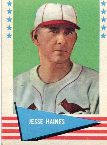 Photo of 1961 Fleer #40 Jesse Haines -- Hall of Fame Class of 1970