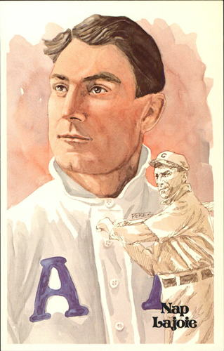 Photo of 1980-02 Perez-Steele Hall of Fame Postcards #8 Nap Lajoie -- HOF Class of 1937