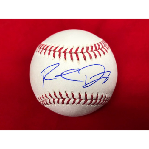 Photo of Rookie Davis -- Autographed Baseball