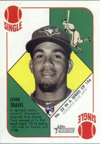 Photo of 2015 Topps Heritage '51 Collection #22 Devon Travis RC