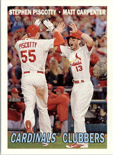 Photo of 2016 Topps Heritage #63 Stephen Piscotty/Matt Carpenter