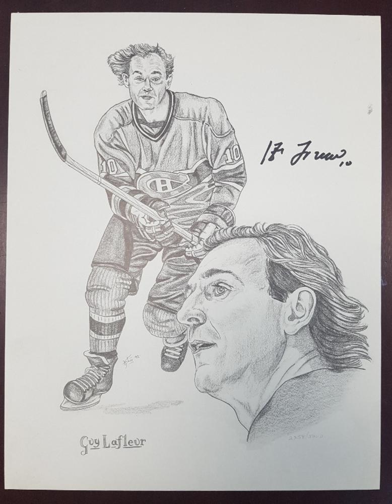 Guy Lafleur Montreal Canadiens Autographed 11x14 Lithograph