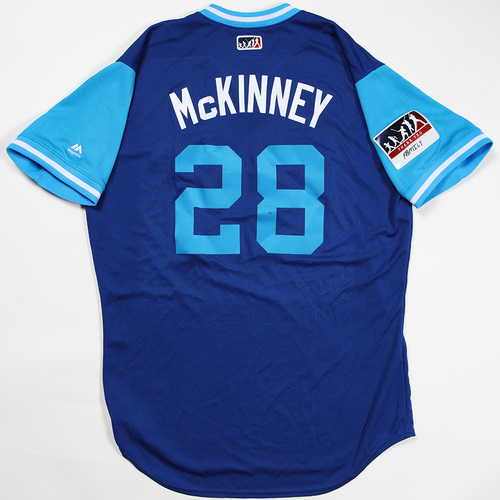"Photo of Billy ""McKinney"" McKinney Toronto Blue Jays Game-Used Jersey 2018 Players' Weekend Jersey"