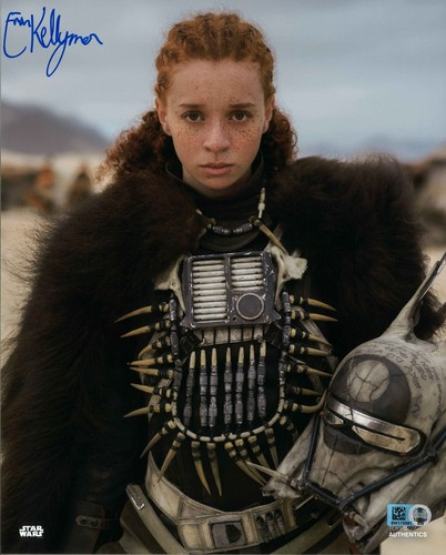 Erin Kellyman As Enfys Nest 8X10 AUTOGRAPHED IN 'BLUE' INK PHOTO