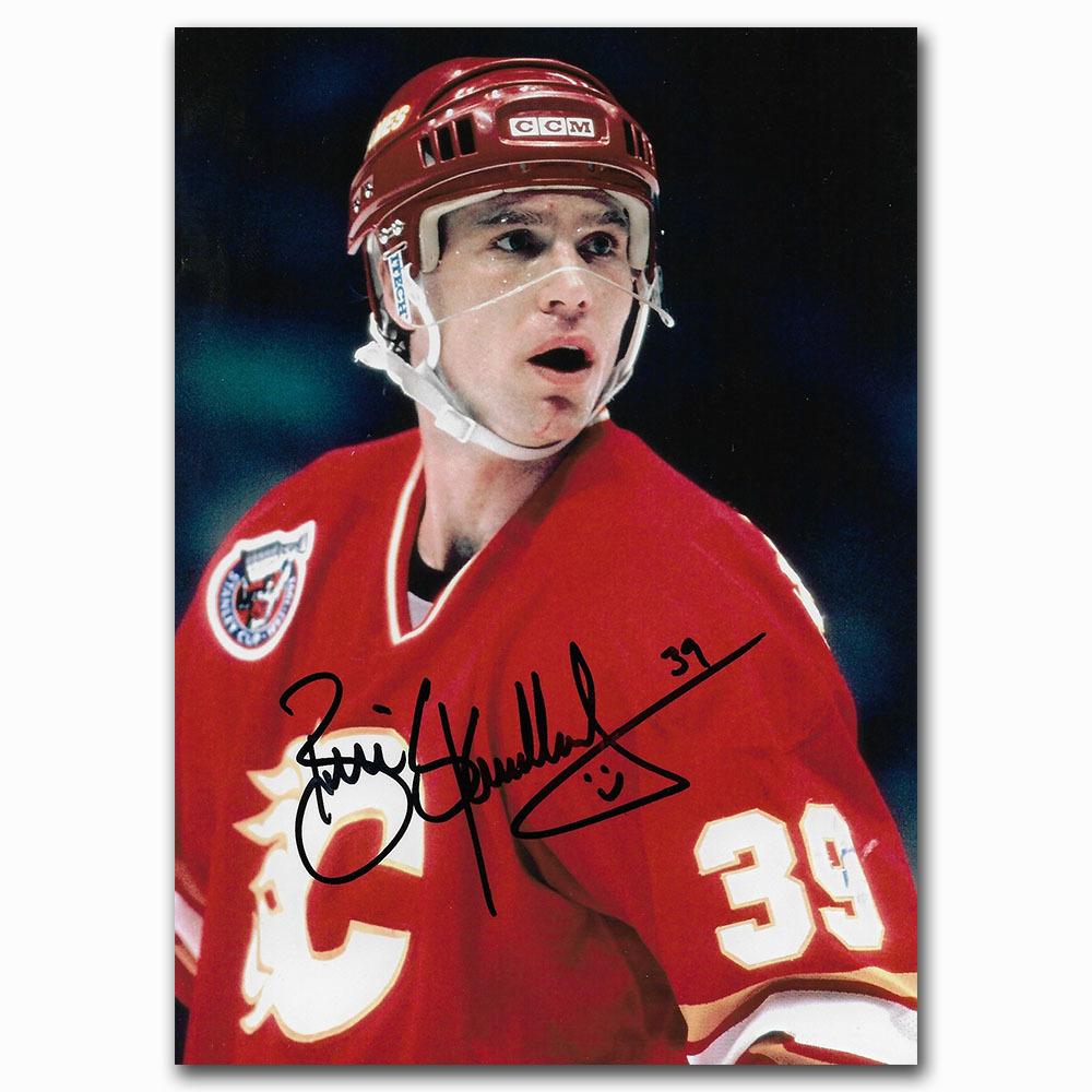 Brian Skrudland Autographed Calgary Flames 4X6 Photo