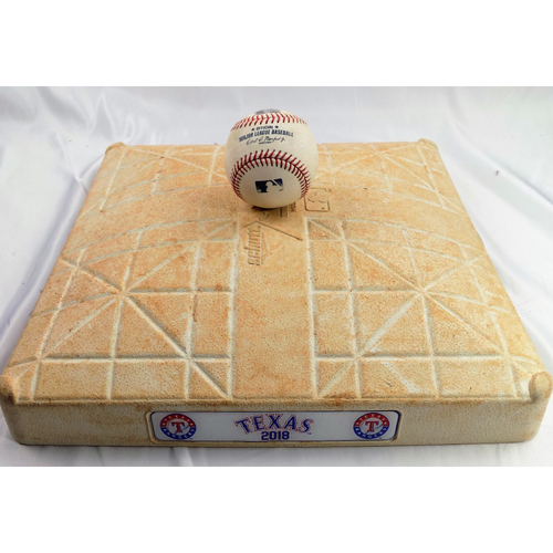 Photo of Game-Used 2nd Base - September 23, 2018 - Adrian Beltre's Final Home Game