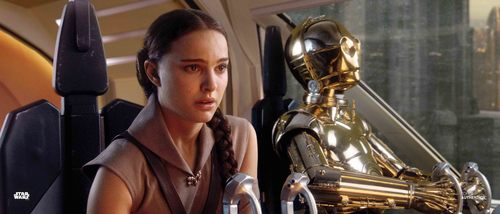 Padmé Amidala and C-3PO